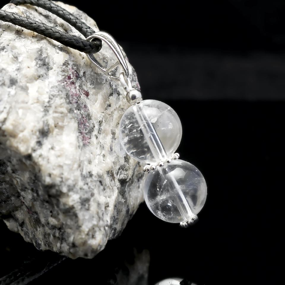 Гірський кришталь, срібло, кулон, 652КЛГ