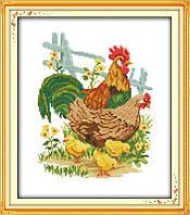 Куриная семья. Набор для вышивания крестом