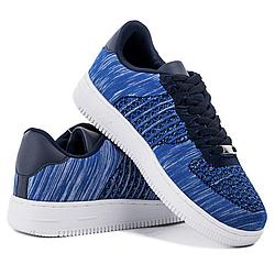 Мужские кроссовки Violetta полосатые синие blue 40-45