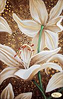 """Схема для вышивания """"Золотые лилии"""""""