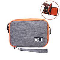 Honana HN-CB1 Хранение двухслойного кабеля Сумка Электронные аксессуары Органайзер Туристическое снаряжение