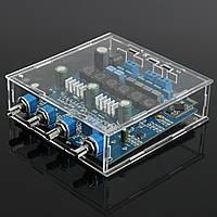 TPA3116 2.1 50Wx2 усилитель + 100W Bluetooth CSR4.0 класса D Мощность акриловыми Case