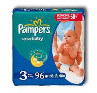 Памперсы для детей Active Baby (3) Midi 4-9 кг, 96 шт