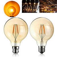 4W G95 E27 / B22 Урожай ретро Промышленные светодиодные COB Эдисон Волокно Свет лампы накаливания
