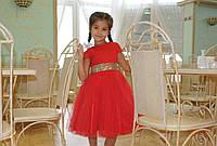 Детское красное нарядное платье