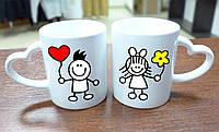 """Парные чашки """"Влюбленная пара"""""""