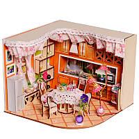 Веселая головоломка Sweet Home Habitat Room DIY Dollhouse Набор С Светодиодный Отделка деревом