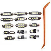 15Pcs Авто LED Внутреннее освещение Лампа Пакет Набор для Audi A4 B8 Avant J1 2009-2013