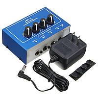 AMP-i4 Микропроцессорные портативные 4-канальные наушники Audio Stereo Усилитель Смеситель