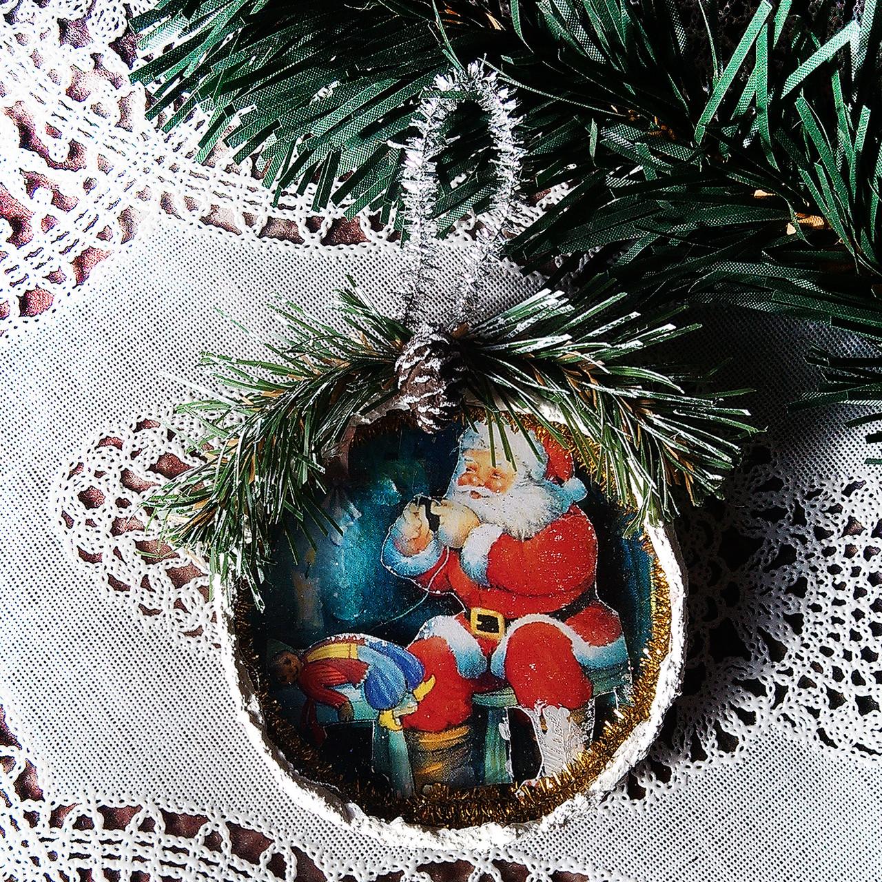 c9a5233fcb0a Подвеска медальон на елку Елочные украшения Подарки ручной работы на новый  год 2019