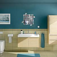 Honana BX-215 Removeable зеркало в ванной наклейки головоломки DIY Зеркало стикер стены Acrylic Solid