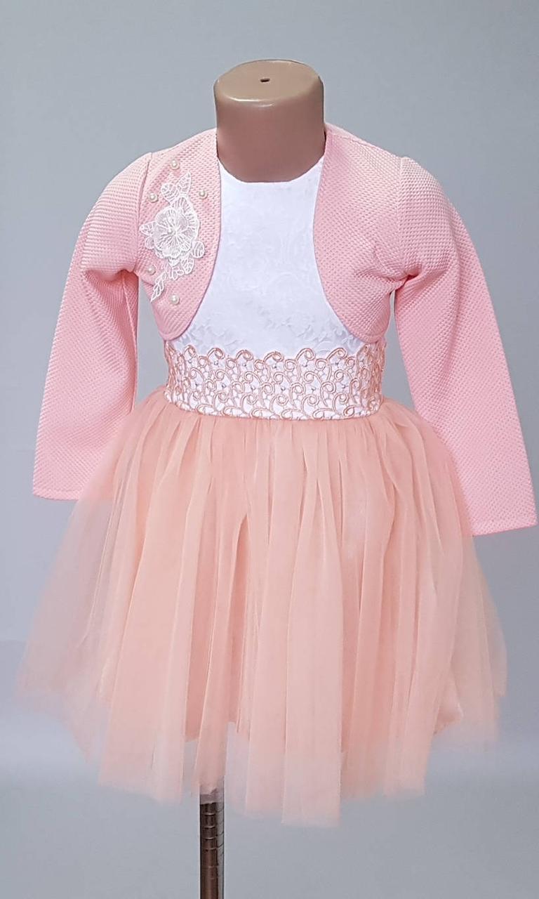 Нарядное платье для девочек с болеро