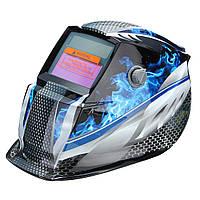 Blue Flame Solar самозатемняющимися сварщиков Сварочный шлем Маска Шлифование автоматический режим