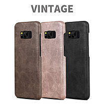 Bakeey ™ Retro Soft Кожа PU Ultra Thin Shockproof Чехол Задняя крышка для Samsung Galaxy S8, фото 2