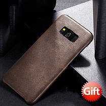Bakeey ™ Retro Soft Кожа PU Ultra Thin Shockproof Чехол Задняя крышка для Samsung Galaxy S8, фото 3