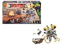 Конструктор BELA Ninja Летающая подводная лодка 10725 (Аналог LEGO Ninjago 70610) 368 дет. (Ниндзя)
