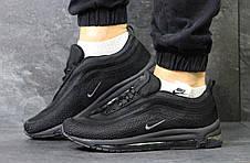 Кроссовки мужские Nike air max 97, черные с серым, фото 3