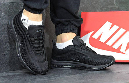 Кроссовки мужские Nike air max 97, черные с серым, фото 2