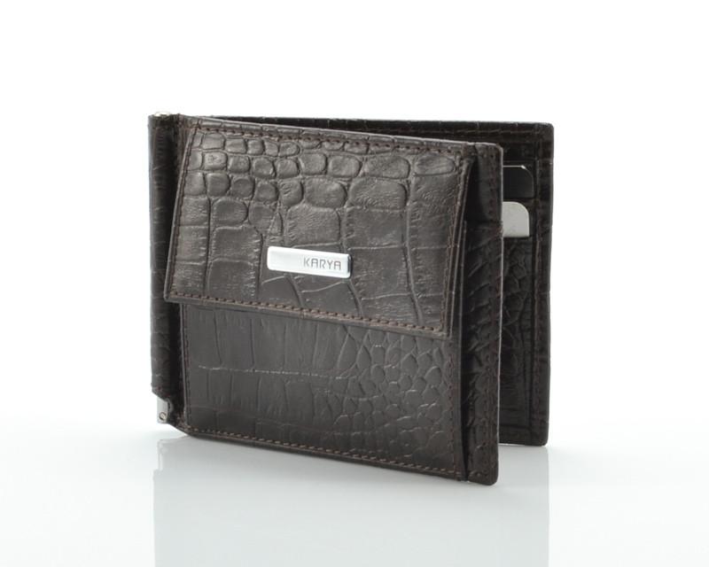 Кожаный зажим для денег Karya 0460-57 (Турция)