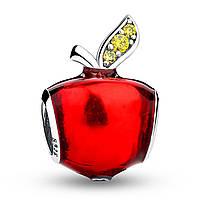"""Шарм Pandora Style (стиль Пандора) """"Красное яблоко"""""""