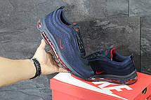 Кроссовки мужские Nike air max 97,темно синие с красным, фото 2