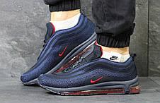 Кроссовки мужские Nike air max 97,темно синие с красным, фото 3