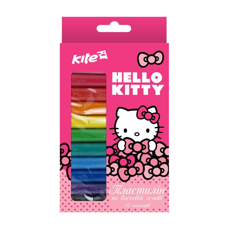 Пластилин на восковой основе Kite Hello Kitty, 12 цветов, HK17-086