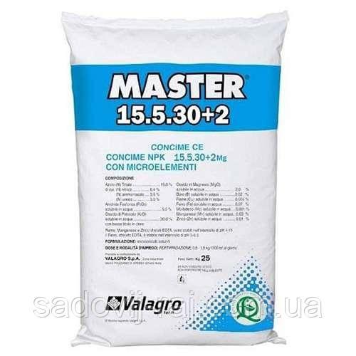 Удобрение Мастер 15+5+30 Valagro 25 кг