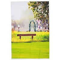 3x5FT Виниловая зеленая деревня Цветная фотобумага Фон Фон Фон Студия Prop