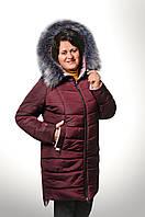 """Теплая женская куртка """"Даша"""" на зиму, удлиненная, холлофайбер, 50-58 р-ры,  950/880 (цена за 1 шт. + 70 гр.)"""