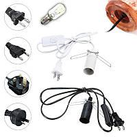 1.2M E14 Гималайская соль Лампа Электрическая лампочка адаптер с выключателем ON/OFF