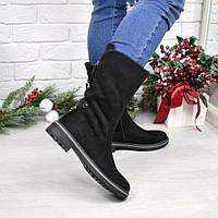 Ботинки полусапоги женские Misty черные