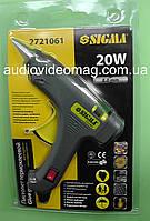 Пистолет электрический 20Вт, с выключателем, для клеевых стержней Ø 8 мм