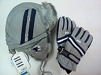 Комплект для мальчика шапка-ушанка и перчатки TuTu Сибирь арт. 5-000051(50-52)