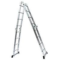 4.7M Многоцелевой алюминиевого сплава Лестница 4-кратном х 4Steps Лестница Эшафот Выдвижная