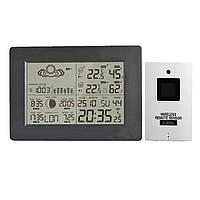 LCD Беспроводная погодная станция календарь часы термометр влажности с подсветкой