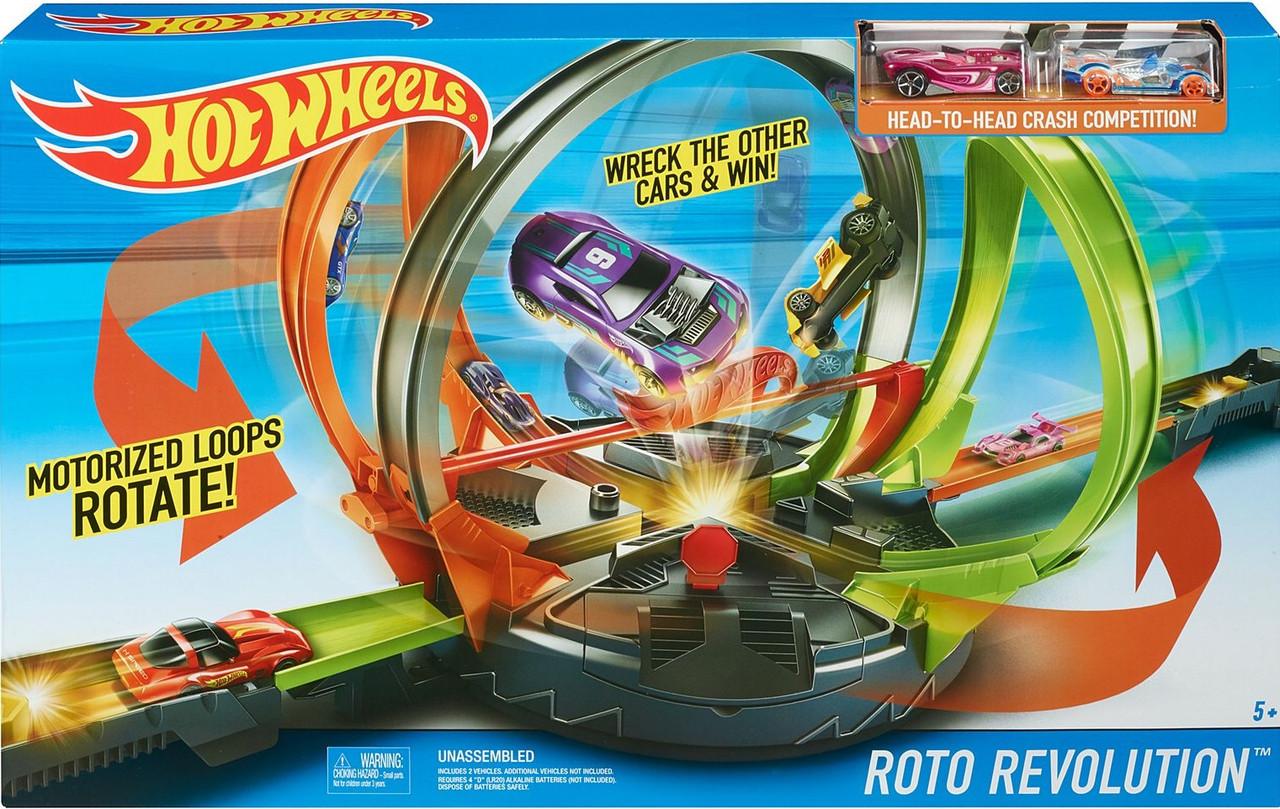 """Моторизированный Трек Хот Вилз """"Скоростноевращение"""" Hot Wheels Roto Revolution Trackиз США"""