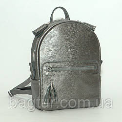 Женский кожаный рюкзак 02  никель 02020112  с кистями