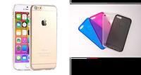 Гибкий прозрачный ТПУ чехол-накладка для iPhone 6 TPU I6