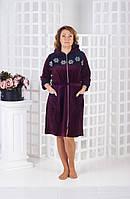 Велюровый халат с капюшоном ромашки, фото 1