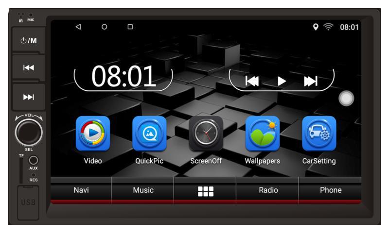 Магнитола Android Terra 4078U, Андроид 8.1, фото 1