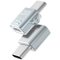 DM M2 Микро USB Female для Type C Мужской адаптер для зарядки OTG Коннектор для Xiaomi 6 Letv MacBook