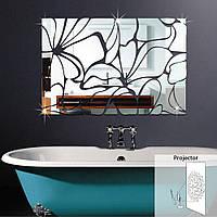 Honana акриловые Зеркальный DIY Декоративные наклейки стены 3D Mural зеркало в ванной наклейки украшения