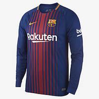 Футбольная форма Барселона с длинным рукавом 17/18 сезона, домашняя
