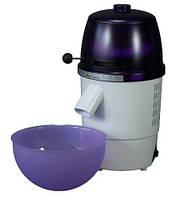 Электрическая  домашняя мельница для помола зерна Hawos Novum, фиолетово-белая