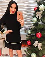 Женское шикарное платье с воротником стойка (3 цвета)