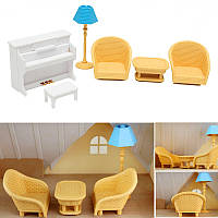 Кухонные софы для фортепиано в миниатюрные миниатюрные наборы для сильванских семейных аксессуаров