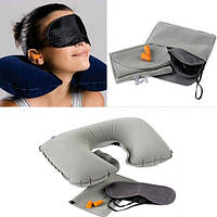 Honana WX-A1 Авто Надувная подушка для путешествий Шея Подушка для отдыха с подушкой U Маска Уши Вилки с памятью Сумка