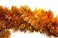 Мишура (дождик) золото10 см.длина 3м (Польша)