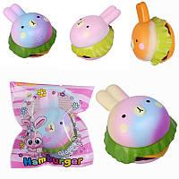 Vlampo Squishy Кролик Гамбургер Bunny Медленный рост Оригинальная упаковка Burger Collection Gift Decor